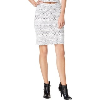 Kensie Womens Pencil Skirt Printed Textured - XL