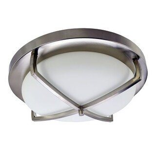 "HomeSelects International 6166 X Light 16"" Width 3 Light Flush Mount Ceiling Fix"