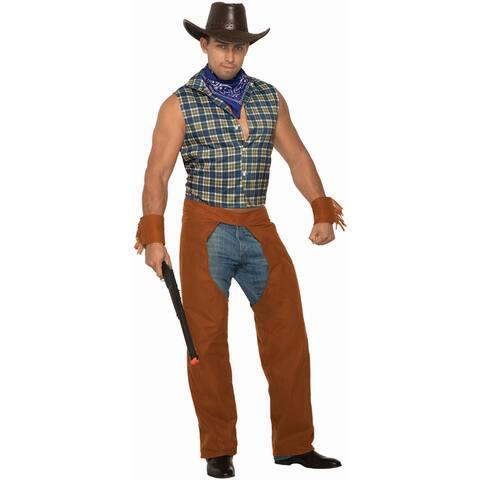 Mens Lone Star Stud Cowboy Halloween Costume - Standard - One Size