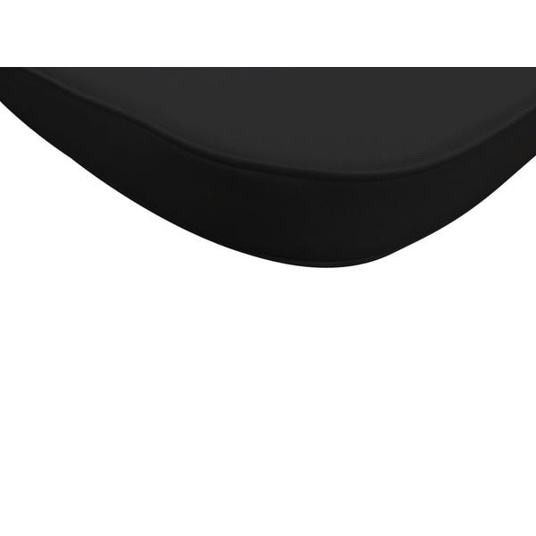 Black LeisureMod Modern Dining Chair Cushion Pads