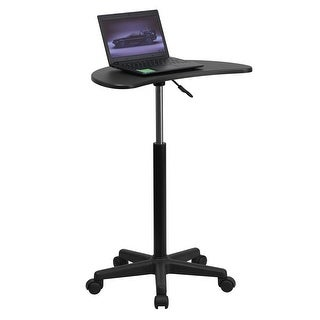 Malcom Height Adjustable portable Laptop Computer Desk w/Black Top