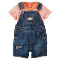 Carter's Baby Boys' Tee & Shortalls Set, 3 Months - Blue