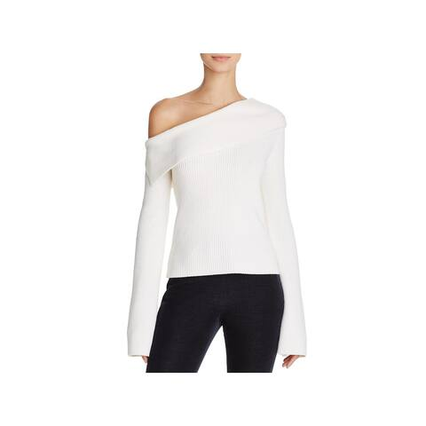 Theory Womens Pullover Sweater One Shoulder Ribbed