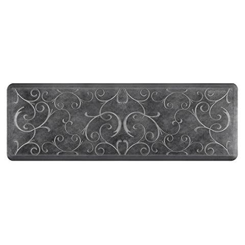 "WellnessMats Estates Bella Anti-Fatigue Office, Bathroom, & Kitchen Mat, Onyx, 72"" by 24"""