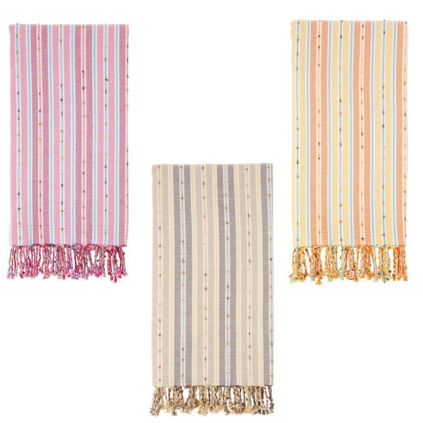 Set of 2 Turkish Towels - 100 % Turkish Cotton - Kasol - Citizens of the Beach Collection. Opens flyout.