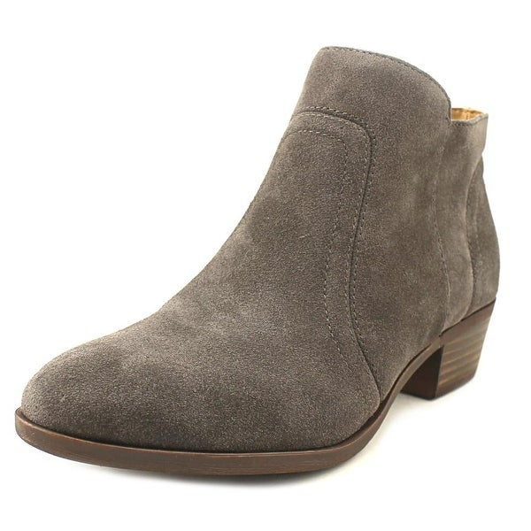 Lucky Brand Breck Women Round Toe Suede Gray Bootie