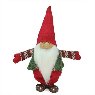 shop 23 red green and white santa gnome christmas tabletop decoration red free shipping on orders over 45 overstockcom 16537110