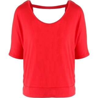 Rebellious One Womens Juniors Pullover Top Open Back Short Sleeves (Option: Xs)