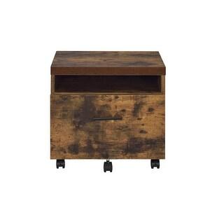 File Cabinet In Weathered Oak - Paper Veneer, Board, Meta Weathered Oak