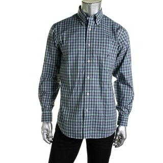 Nautica Mens Cotton Classic Fit Button-Down Shirt - L