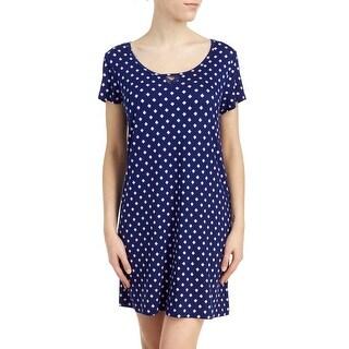 French Dressing Sleepwear Women's Serenity Now Short Sleeve Chemise Blue