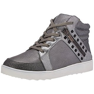 Kenneth Cole Reaction Girls Missy Zip Big Kid Shimmer Fashion Sneakers - 5.5 medium (b,m)