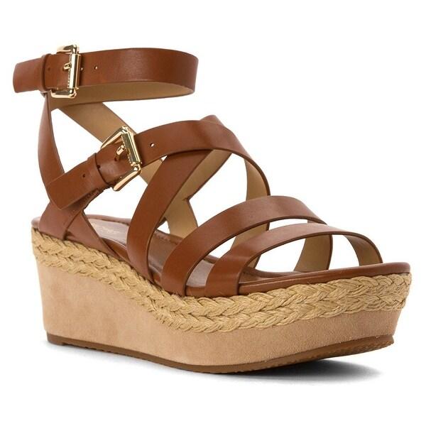9d4c942154f MICHAEL Michael Kors Womens Jocelyn Leather Open Toe Casual Platform Sandals