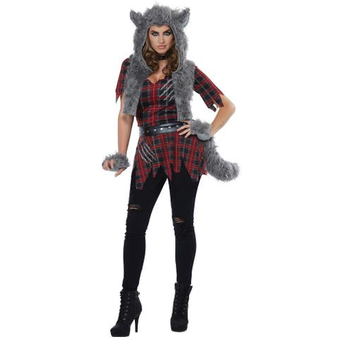California Costumes She-Wolf Adult Costume - Red/Grey