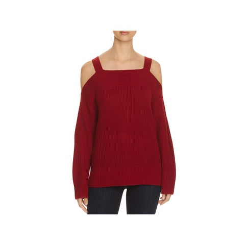 Sanctuary Womens Amelie Pullover Sweater Knit Open Shoulder