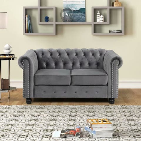 Morden Fort Couches for Living Room, Loveseat for Living Room Furniture Sets, Loveseat, Fabric, Velvet