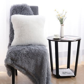 """20"""" Deluxe Home Decorative Fluffy Soft Plush Mongolian Faux Fur Throw Pillow Case Cushion Cover"""