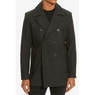 Kenneth Cole NEW Charcoal Gray Mens Size Small S Wool Blend Peacoat