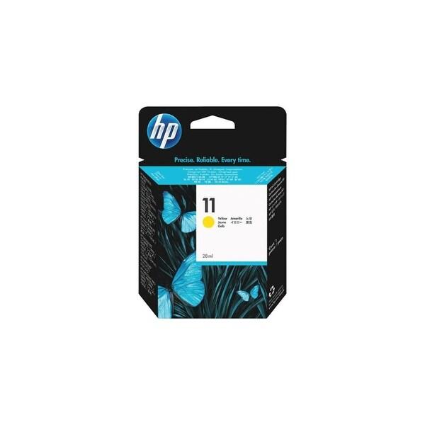 HP 11 Yellow Original Ink Cartridge (C4838A) (Single Pack)
