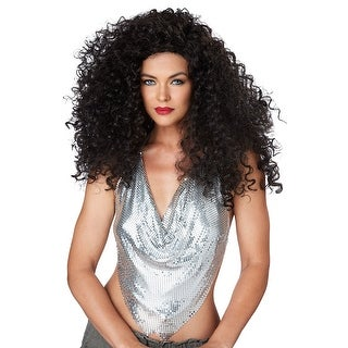 Womens Sexy Disco Diva Do Brunette 70s Costume Wig - standard - one size
