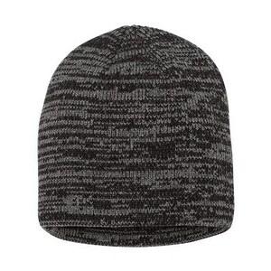 Sportsman Marled Knit Beanie - Black/ Dark Grey - One Size