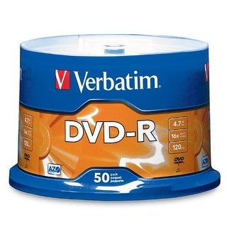 Verbatim VTM95101s 4.7 GB up to 16x Branded Recordable DVD-R 50-Disc Spindle