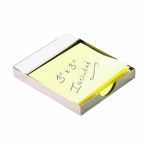 """3.75"""" White Rectangular Post It Note Holder"""