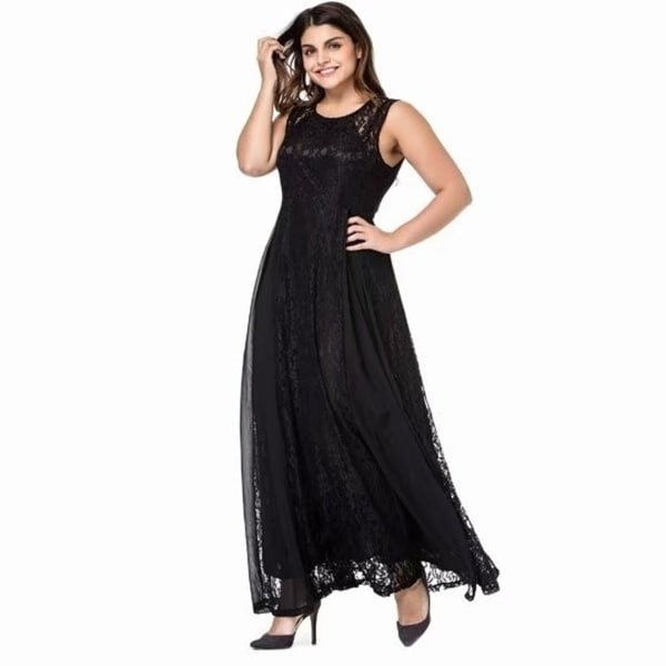 0de71677951 Women  x27 s Plus Size Lace Sleeveless Evening Party Formal Maxi Dress
