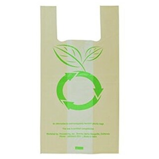 Compostable Grocery & Carry Bags 100 Multi Use Bags