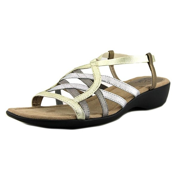 Life Stride Tandie Women W Round Toe Synthetic Bronze Slingback Sandal