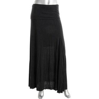 Pure DKNY Womens Fold Over Flared Maxi Skirt