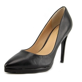 Charles By Charles David Plateau Women Pointed Toe Leather Black Heels