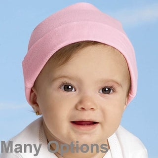 INFANT BABY 100% COTTON BLANK RIB CAP
