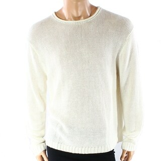 Polo Ralph Lauren NEW Ivory Mens Size 2XL Open-Knit Crewneck Sweater
