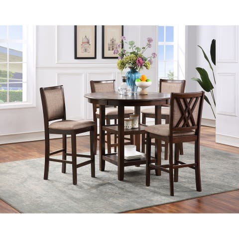 Amy 5-pc Upholstered Dining Set, by New Classic Furniture