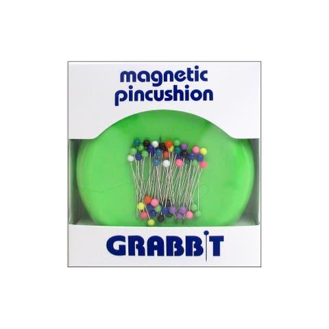 Blue Feather Grabbit Magnetic Pincushion LimeGreen