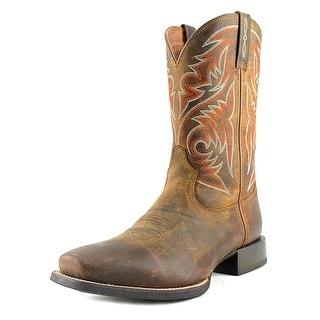 Ariat Sport Herdsman Men Square Toe Leather Brown Western Boot