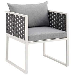 Link to Stance Outdoor Patio Aluminum Dining Armchair Similar Items in Patio Dining Chairs