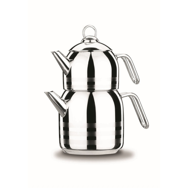 Korkmaz Astra 18/10 Stainless Steel Teapot, Induction Compatible. Opens flyout.