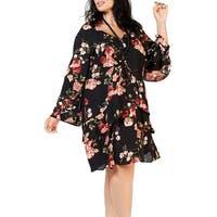 Signature By Robbie Bee Black Women's Size 22W Plus A-Line Dress