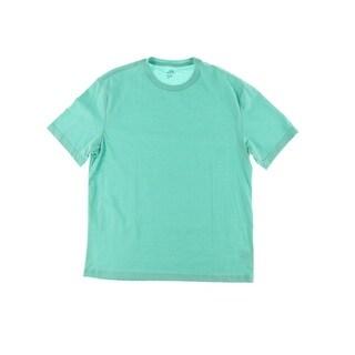 John Ashford Mens Short Sleeves Crew Neck Casual Shirt - L