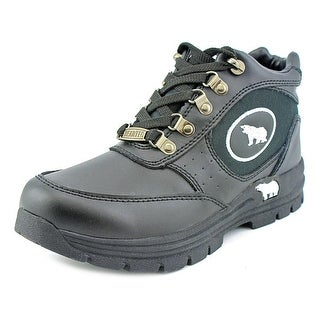 BearTec Bean Youth Round Toe Leather Black Boot