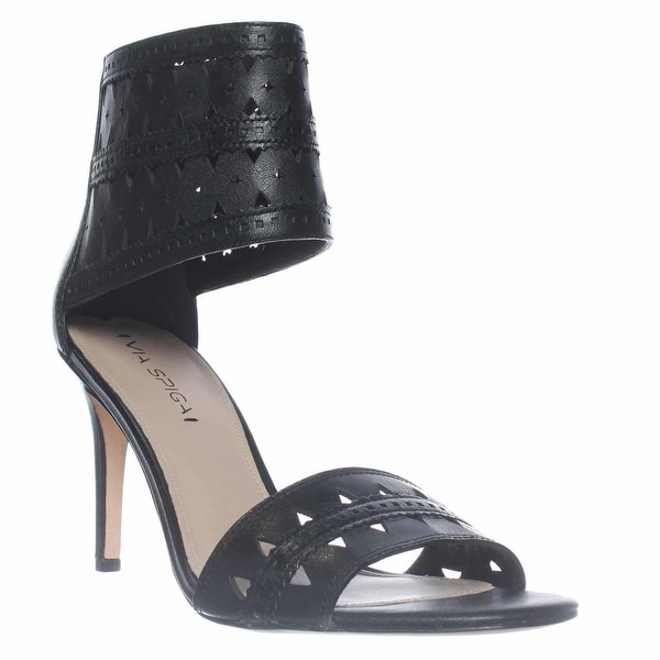 Via Spiga Vanka Ankle Cuff Dress Sandals, Black