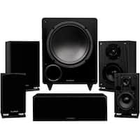 Fluance Elite Series Compact Surround Sound Home Theater 5.1 Channel System - Black Ash (SX51BC)