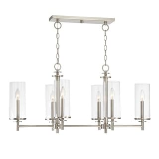 "Designers Fountain 87286 Harlowe 6 Light 36"" Wide Single Tier Shaded Chandelier with Clear Glass Shades"