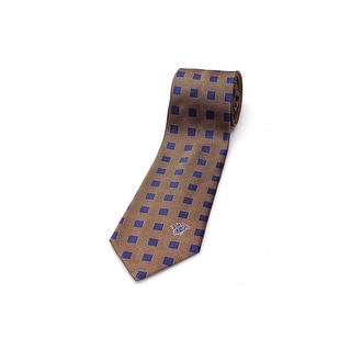 Versace Men Medusa Slim Silk Neck Tie CR8LSEB0319 0004 Blue Gold