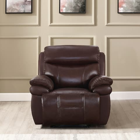 Hydeline Springdale Leather Power Reclining Chair with USB-Ports