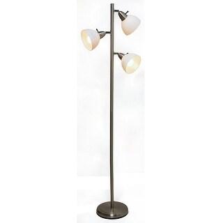 "Boston Harbor TL-TREE-648 Three Lights Tree Lamp, 65"", Satin Nickel"
