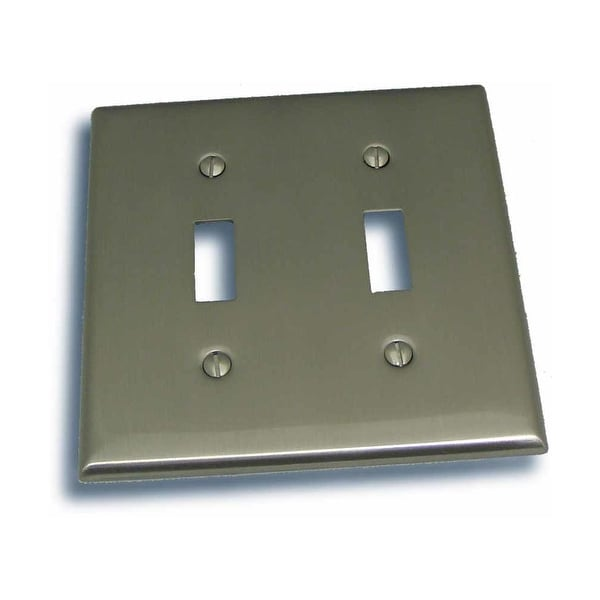 """Residential Essentials 10822 4.5"""" X 4.5"""" Double Toggle Switch Plate Featuring a Rustic / Country Theme - N/A"""