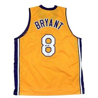 Kobe Bryant Signed Custom Yellow Los Angeles Basketball Jersey PSA DNA
